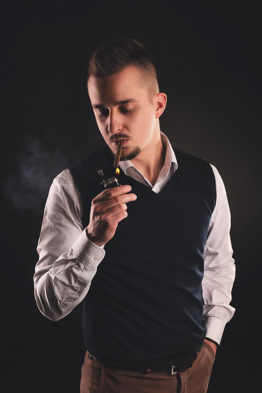 reklamna portretova fotografia - Ashton Cigars