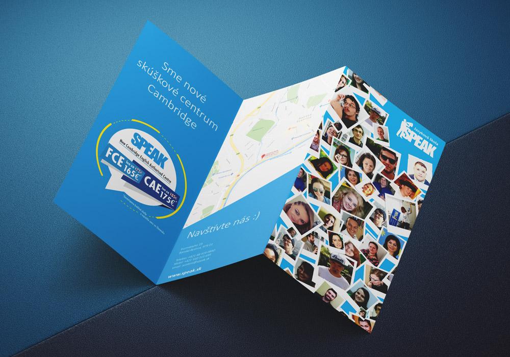 reklamná brožúra speak